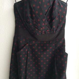 White House Black Market Dresses - WHBM red and black polka dot dress